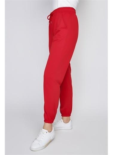 Rodi Jeans Kadın Paça Lastikli Alt Eşofman Ds21Yb091014 Kırmızı